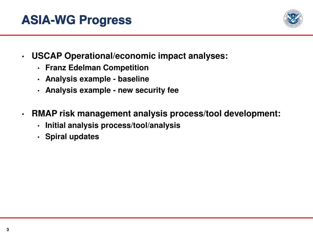 ASIA-WG Progress