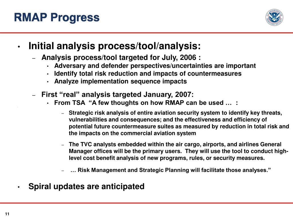 RMAP Progress