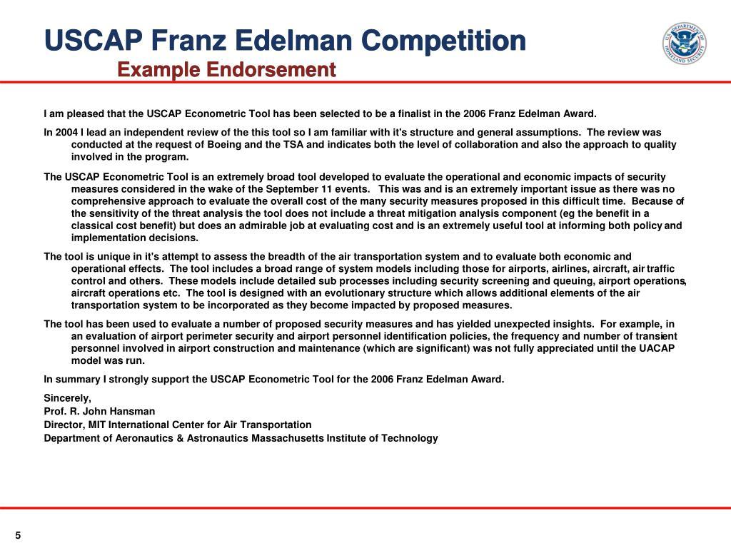 USCAP Franz Edelman Competition
