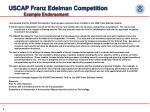uscap franz edelman competition example endorsement