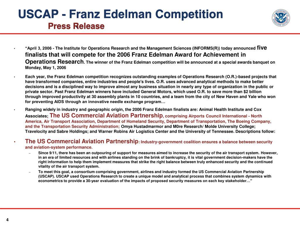 USCAP - Franz Edelman Competition