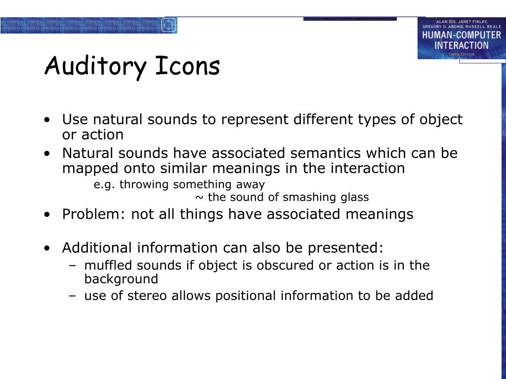 Auditory Icons