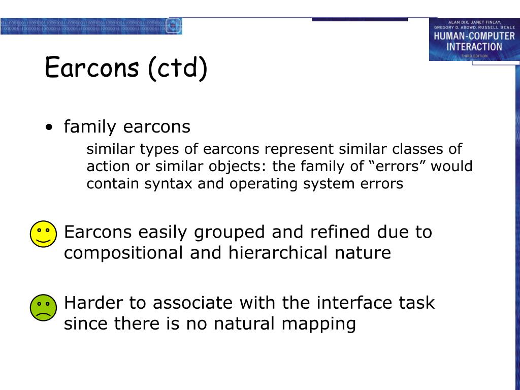 Earcons (ctd)