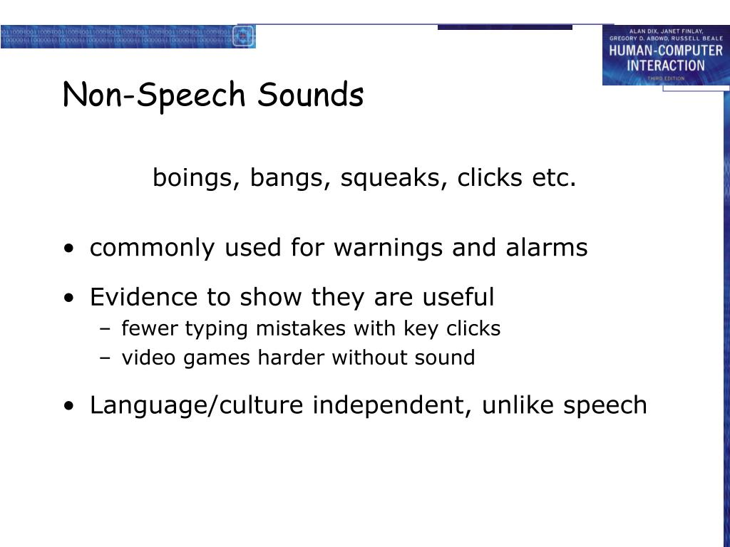 Non-Speech Sounds