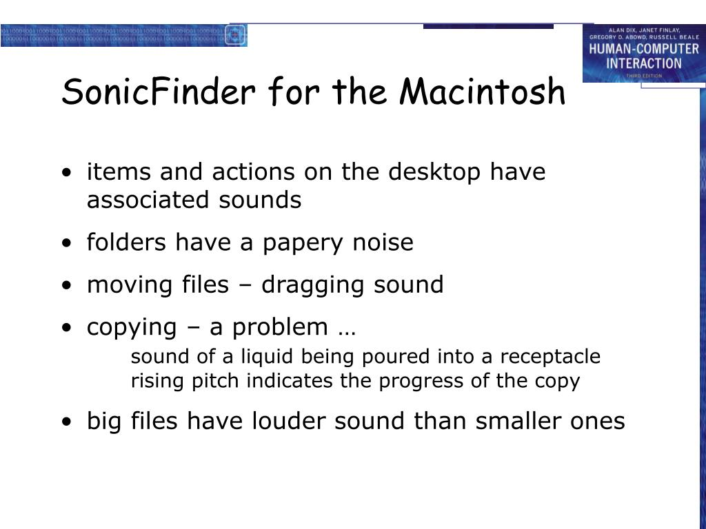 SonicFinder for the Macintosh