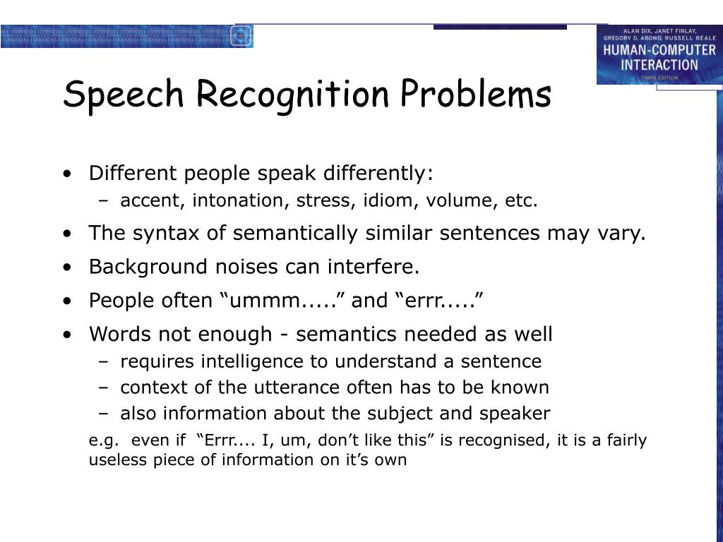 Speech Recognition Problems