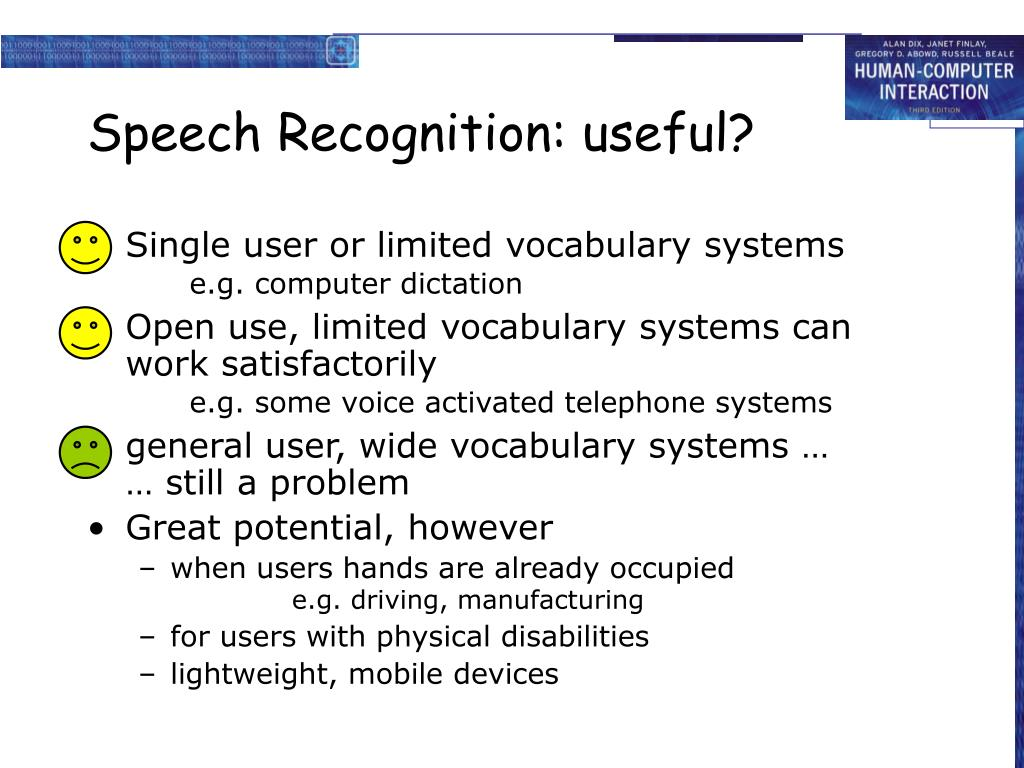 Speech Recognition: useful?