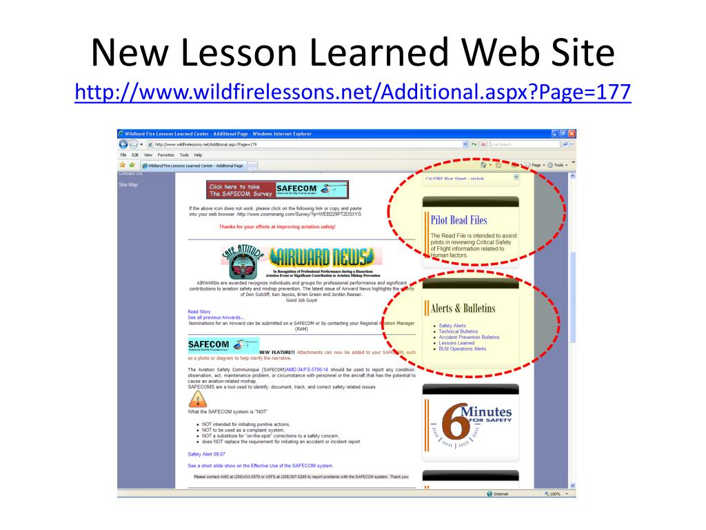 New Lesson Learned Web Site