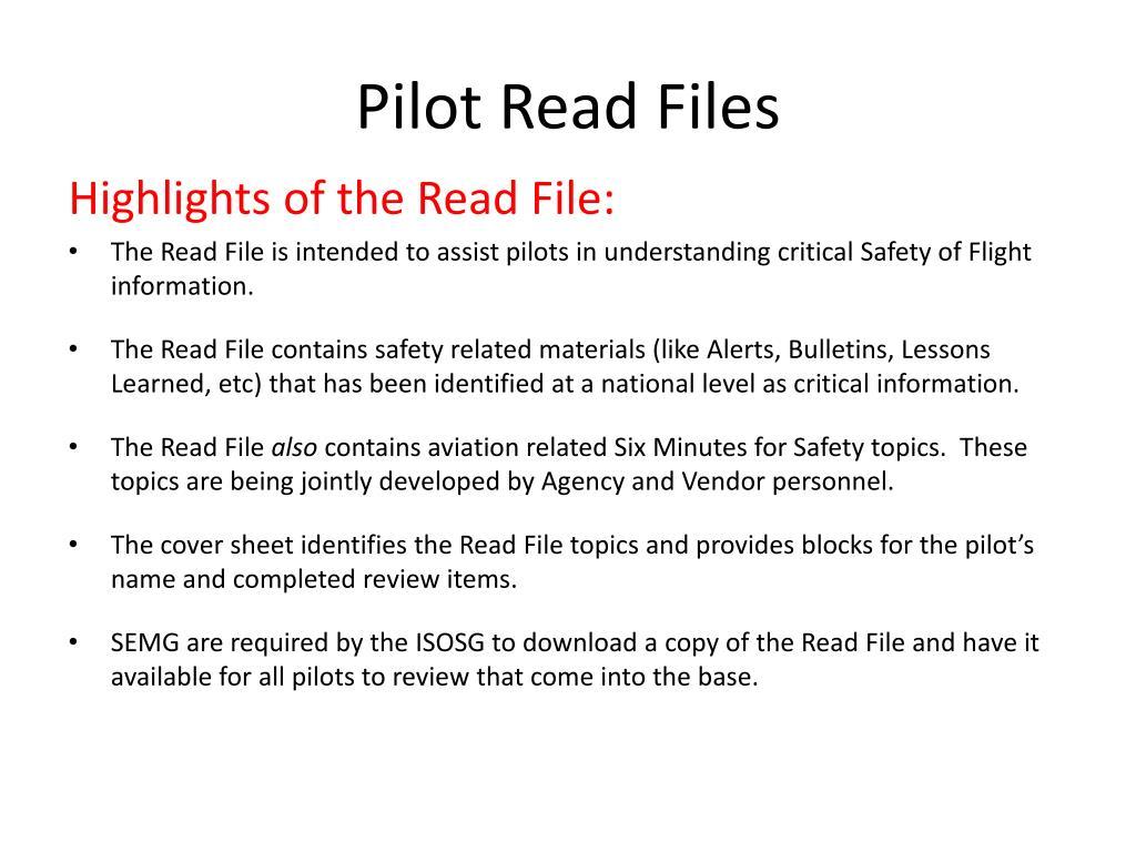 Pilot Read Files