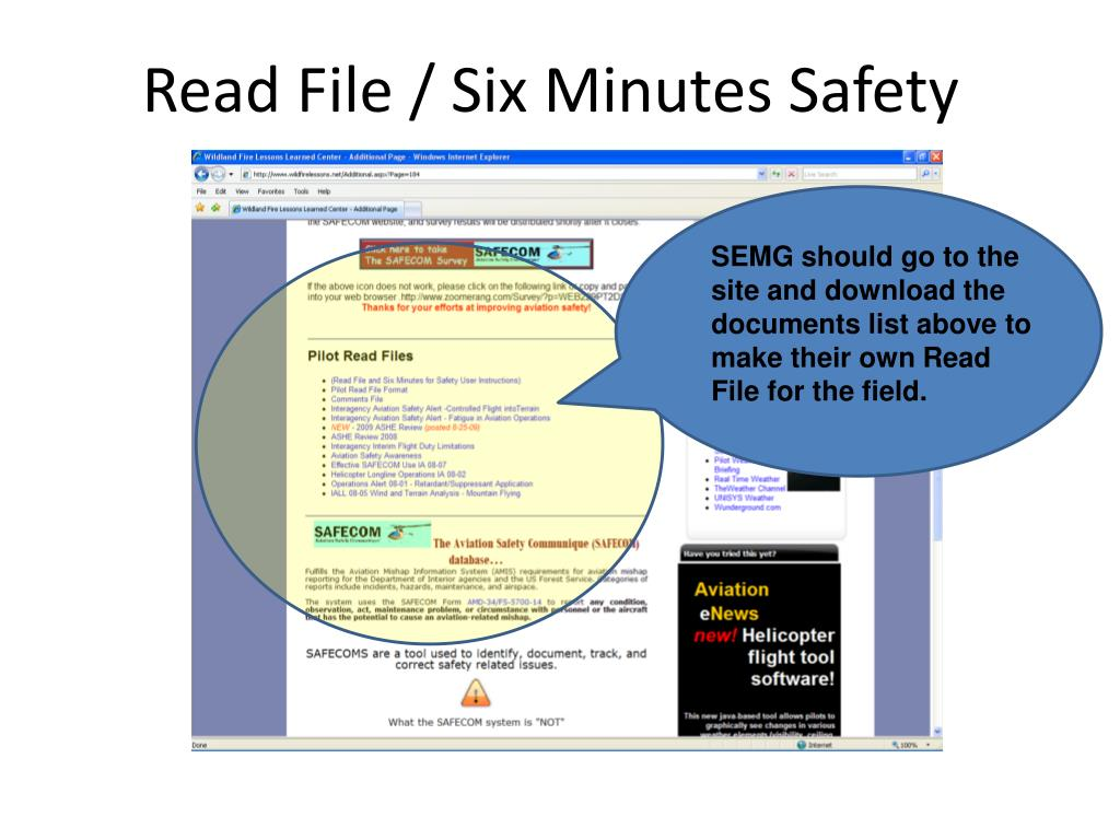 Read File / Six Minutes Safety