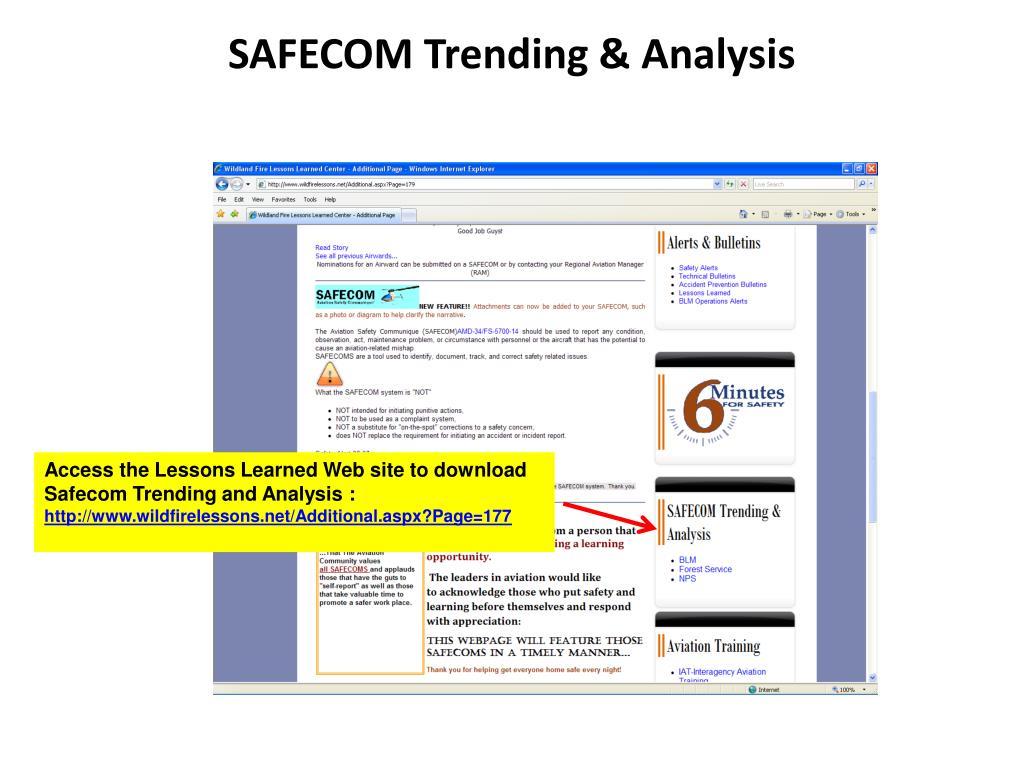 SAFECOM Trending & Analysis
