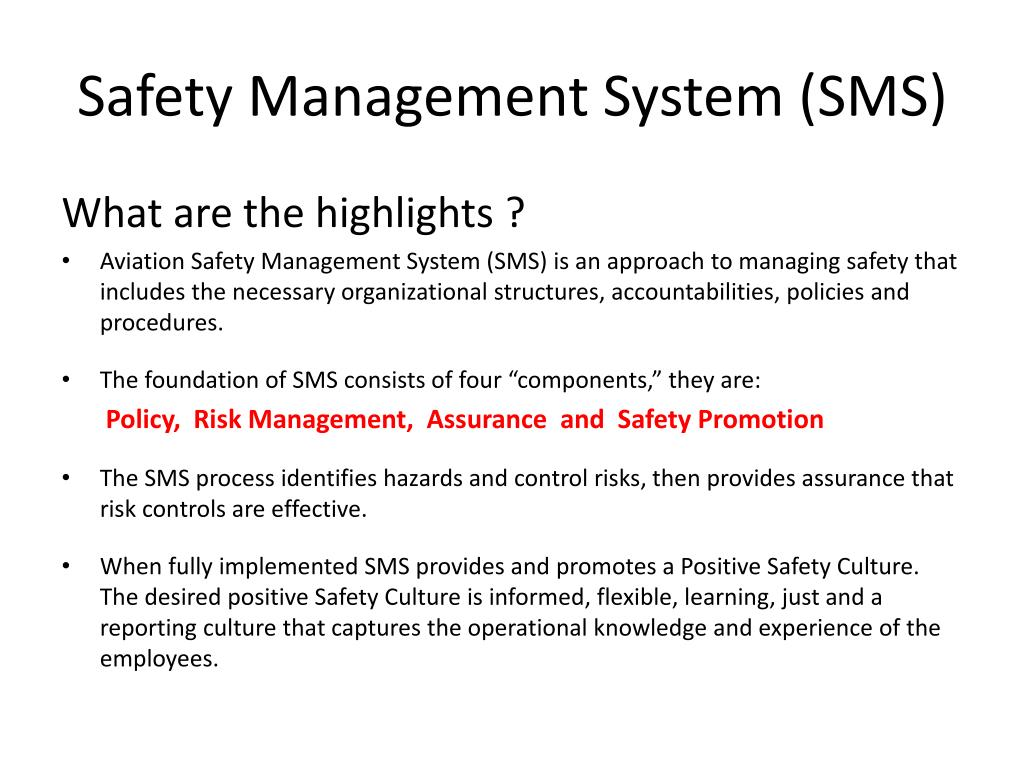 Safety Management System (SMS)