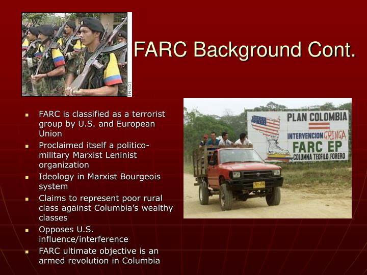 Farc background cont