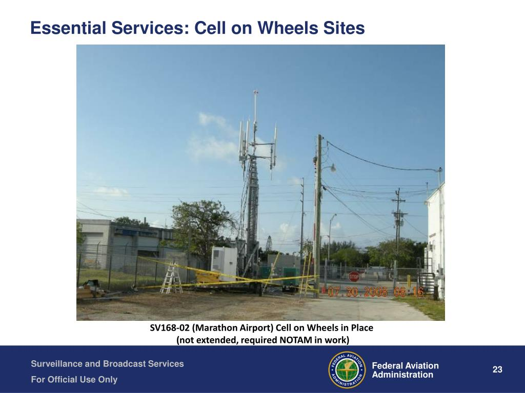 Essential Services: Cell on Wheels Sites