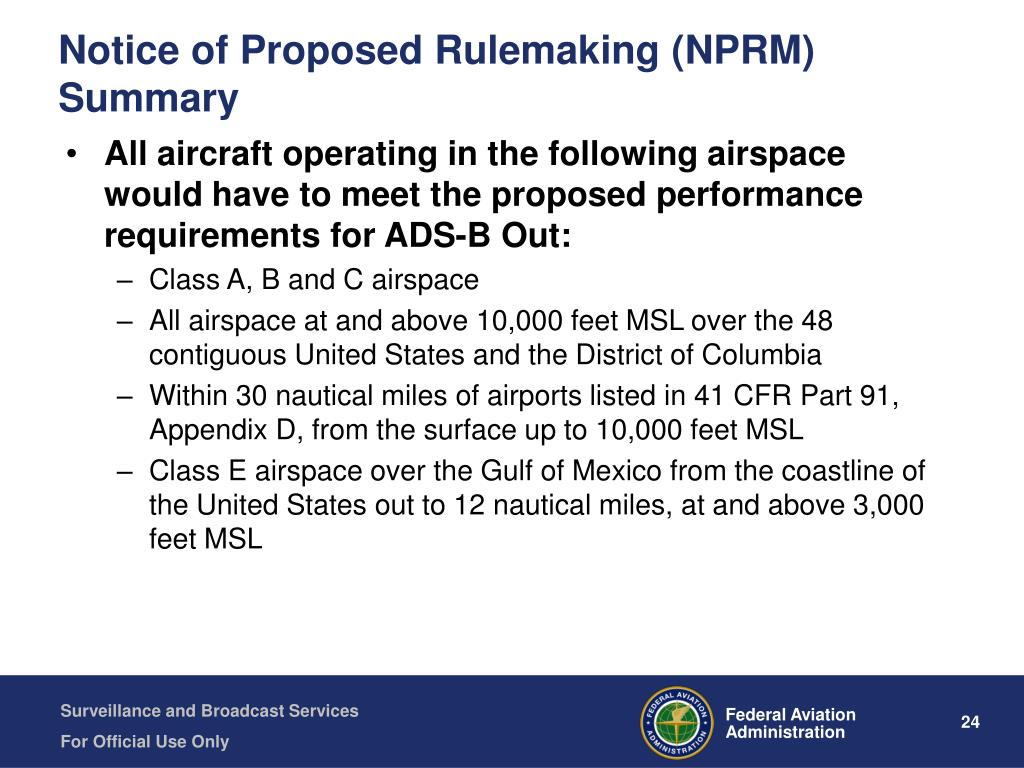 Notice of Proposed Rulemaking (NPRM) Summary
