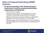 notice of proposed rulemaking nprm summary