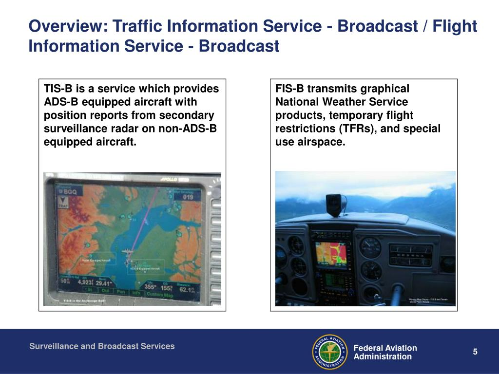 Overview: Traffic Information Service - Broadcast / Flight Information Service - Broadcast