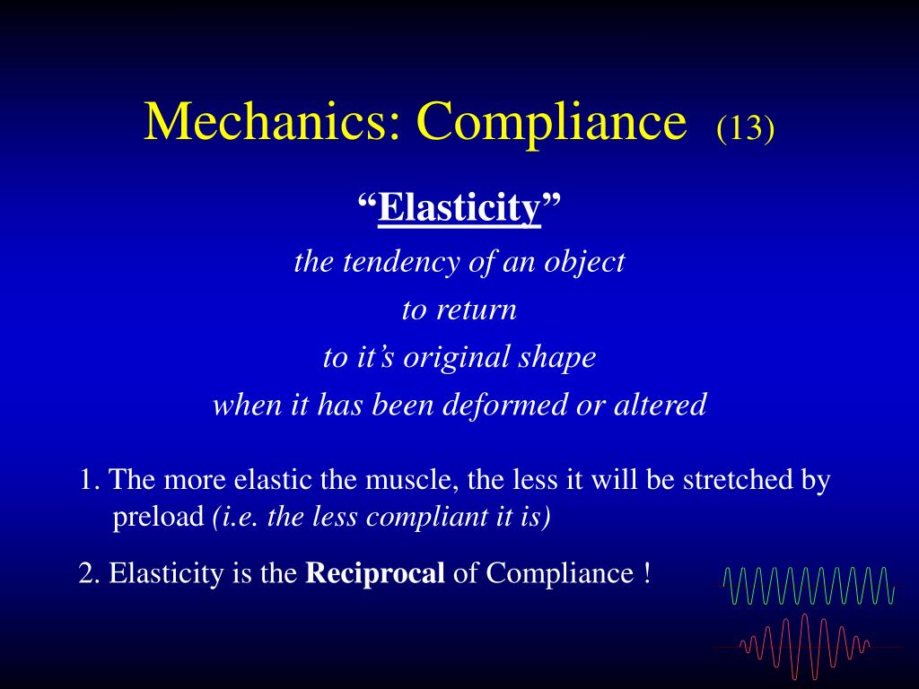 Mechanics: Compliance
