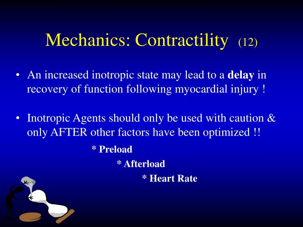 Mechanics: Contractility