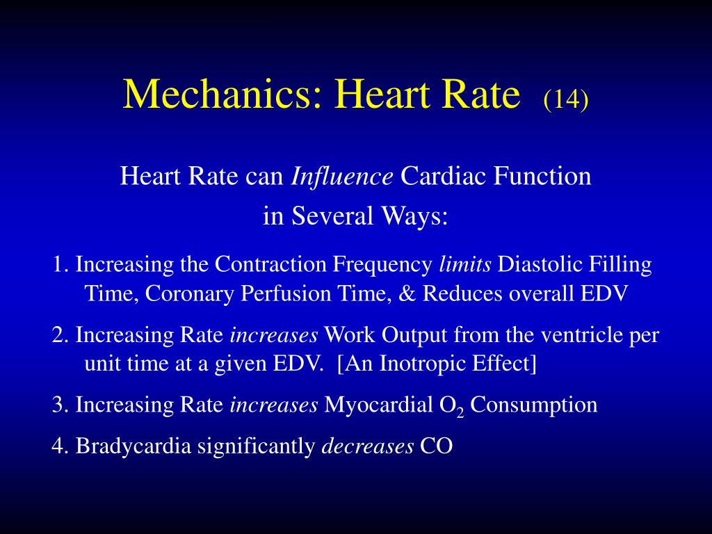 Mechanics: Heart Rate