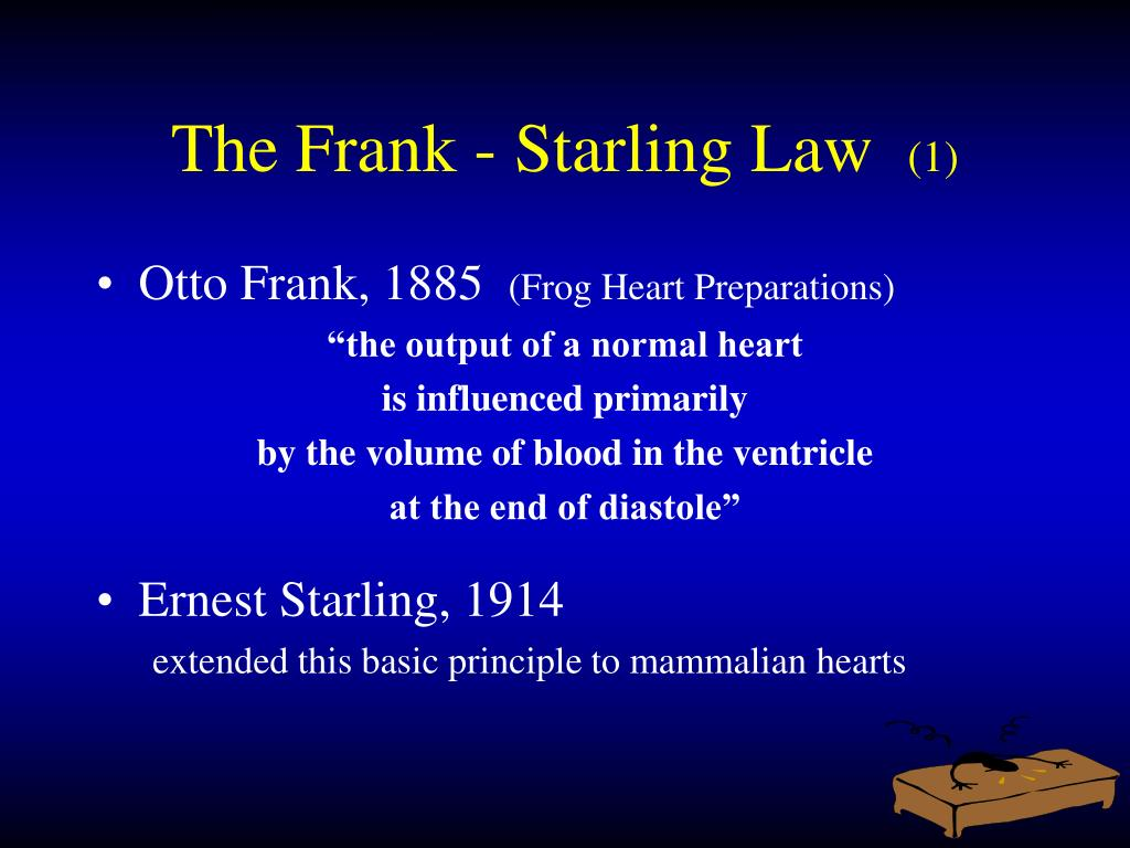 The Frank - Starling Law