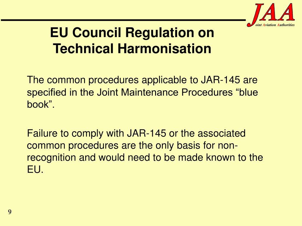 EU Council Regulation on Technical Harmonisation