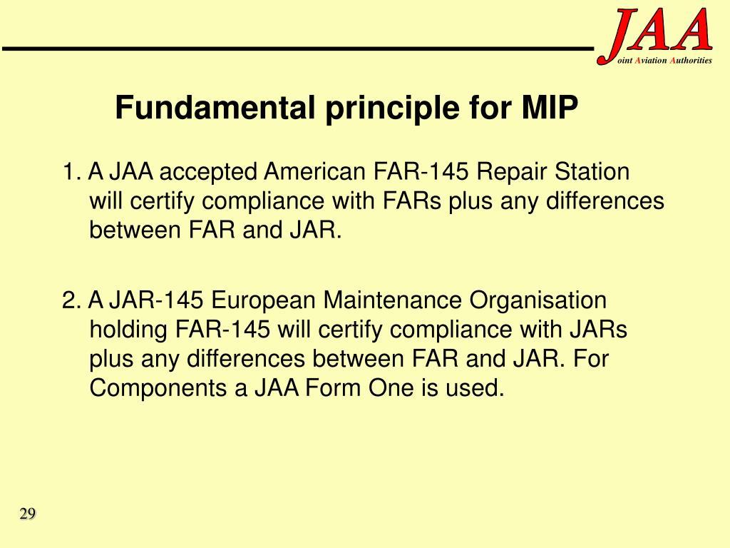 Fundamental principle for MIP