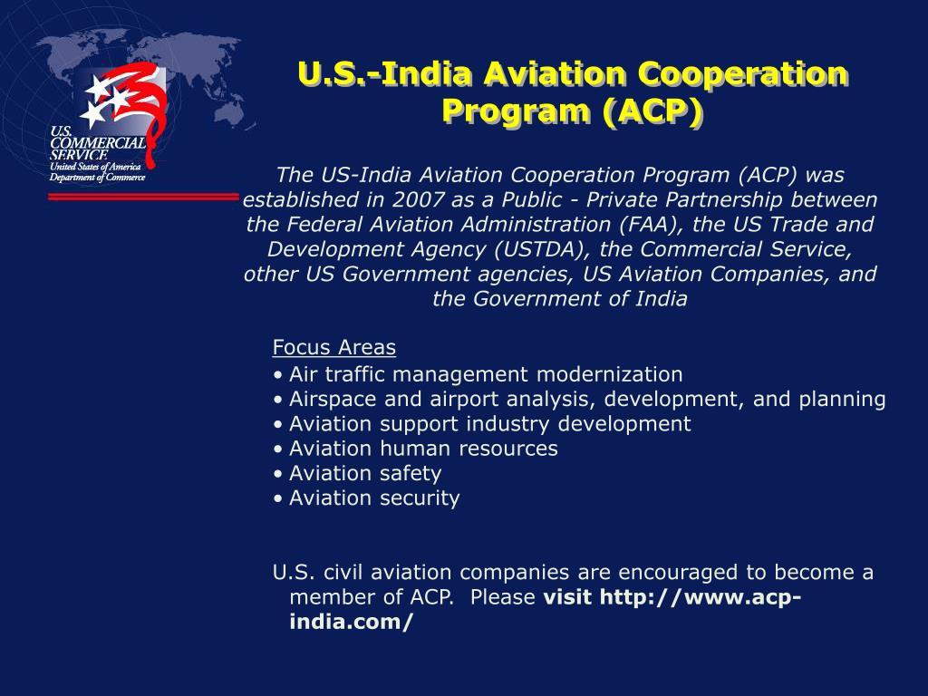 U.S.-India Aviation Cooperation Program (ACP)