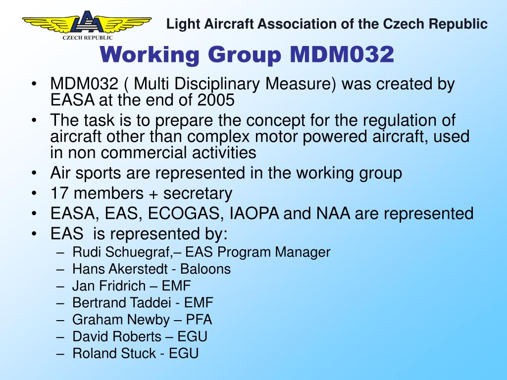 Working Group MDM032