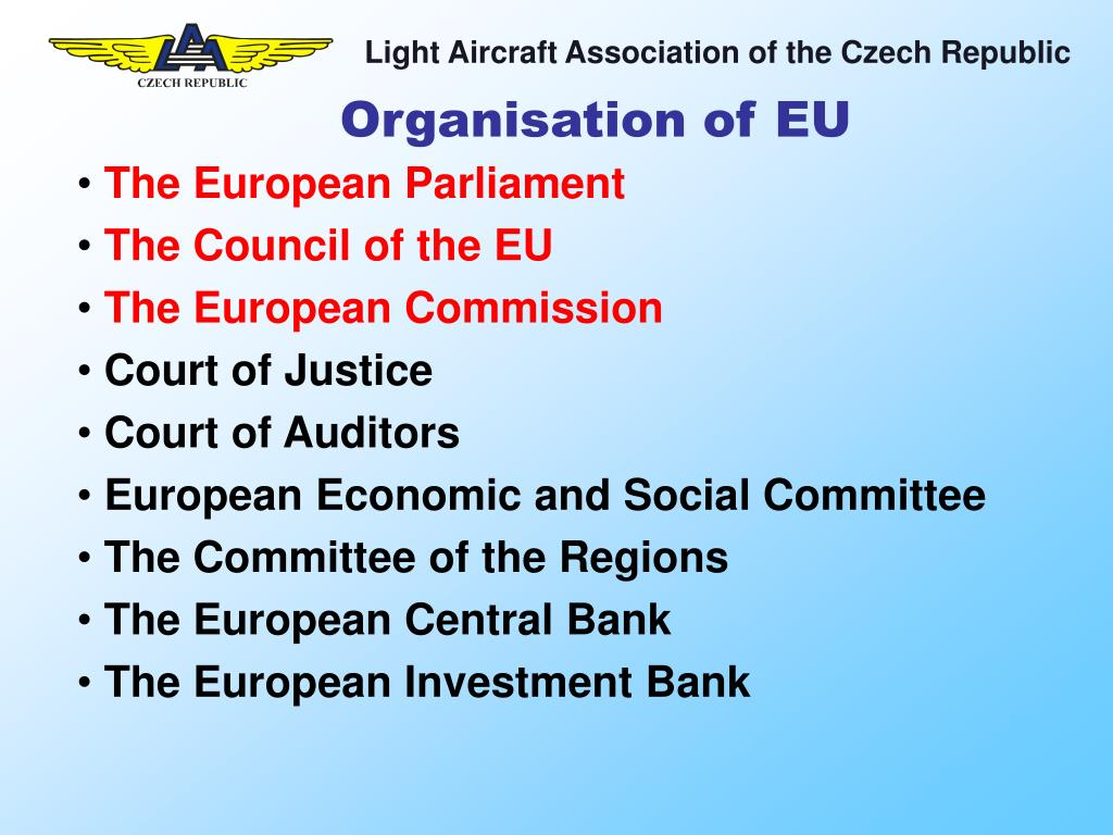 Organisation of EU