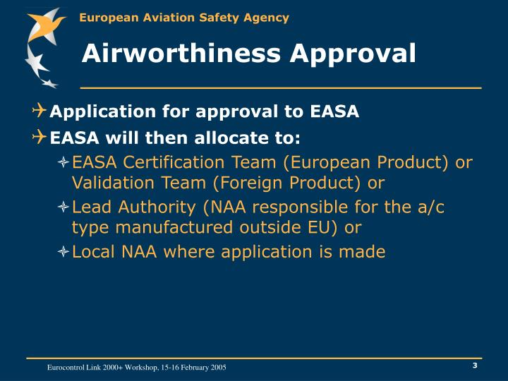 Airworthiness approval