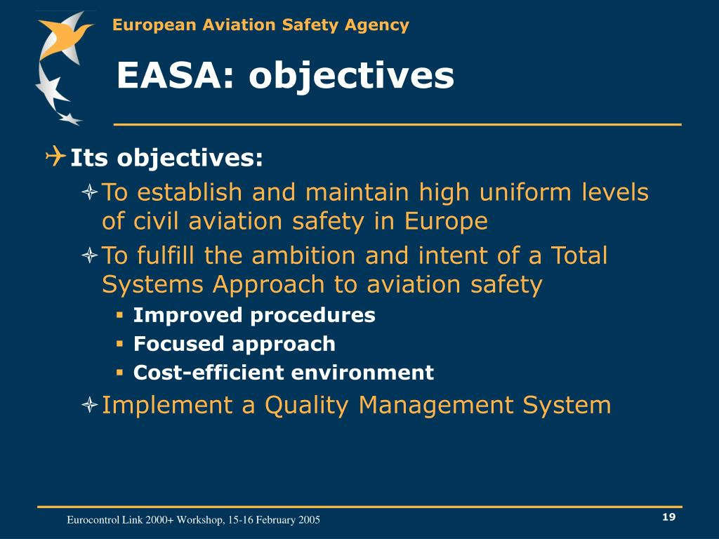 EASA: objectives