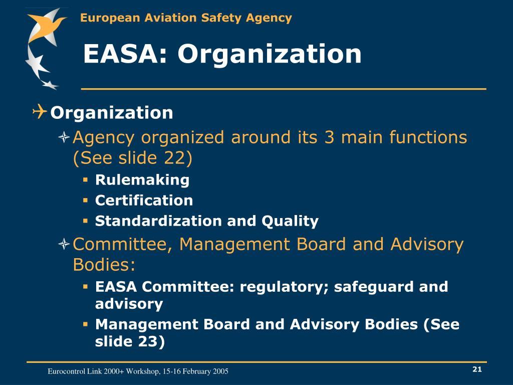 EASA: Organization