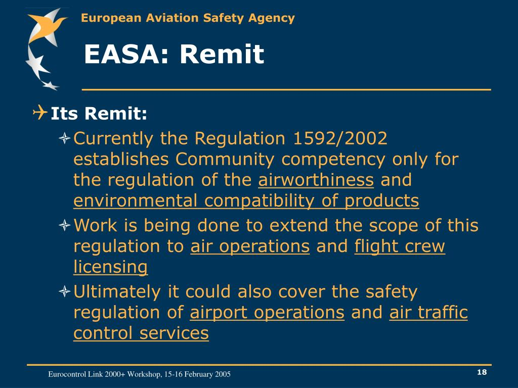 EASA: Remit