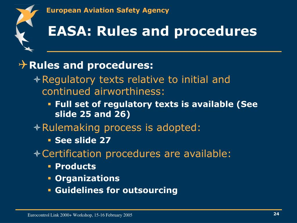 EASA: Rules and procedures