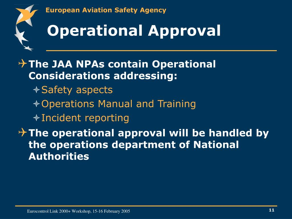 Operational Approval