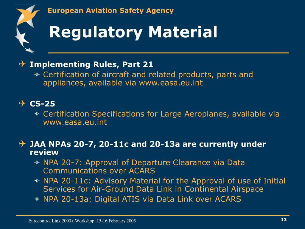 Regulatory Material