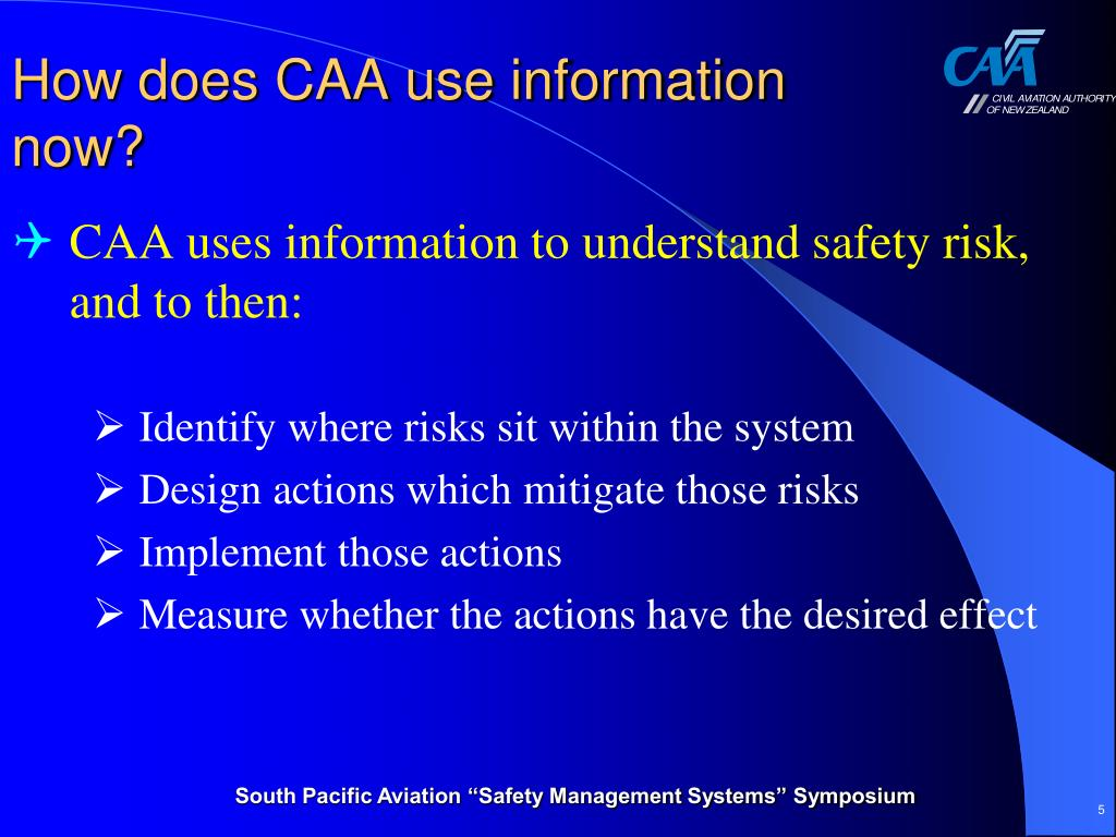 How does CAA use information now?
