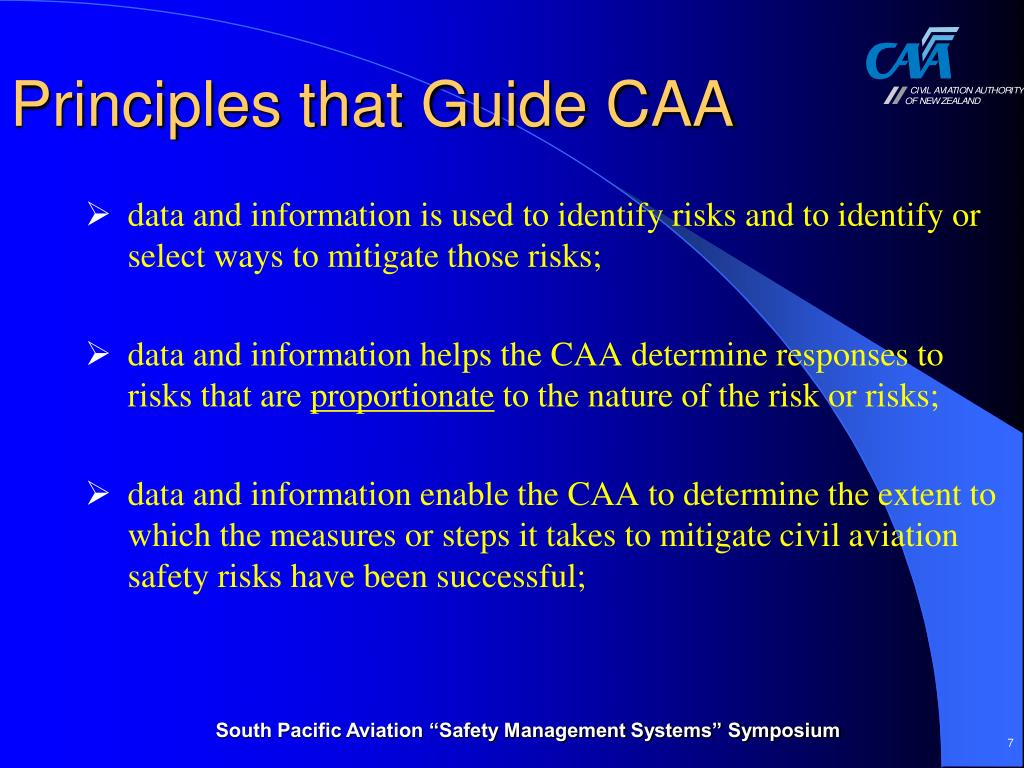 Principles that Guide CAA
