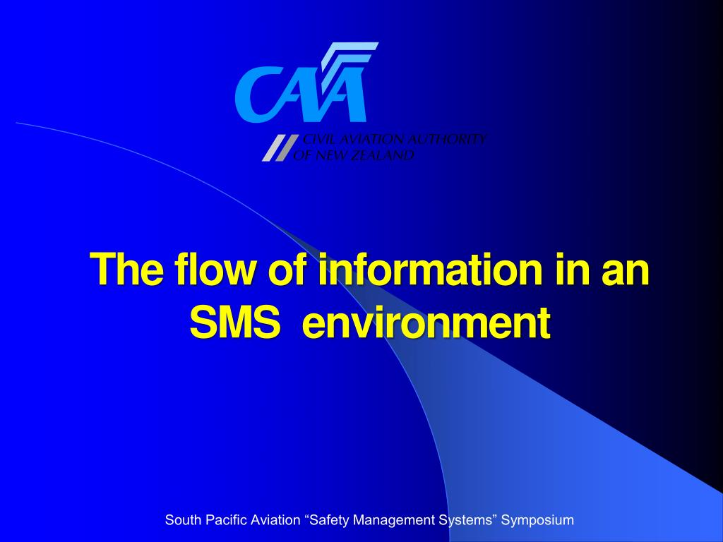 the flow of information in an sms environment