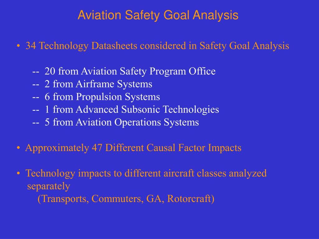 Aviation Safety Goal Analysis