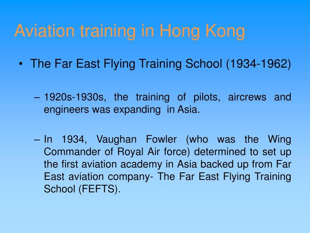 Aviation training in Hong Kong