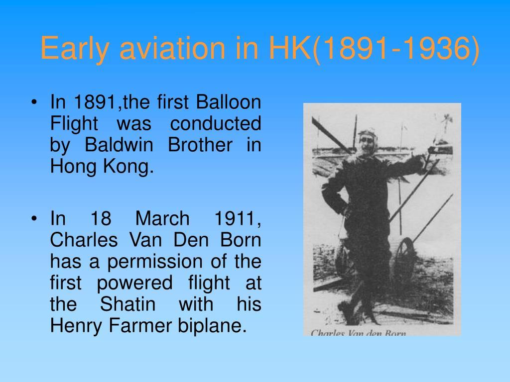 Early aviation in HK(1891-1936)