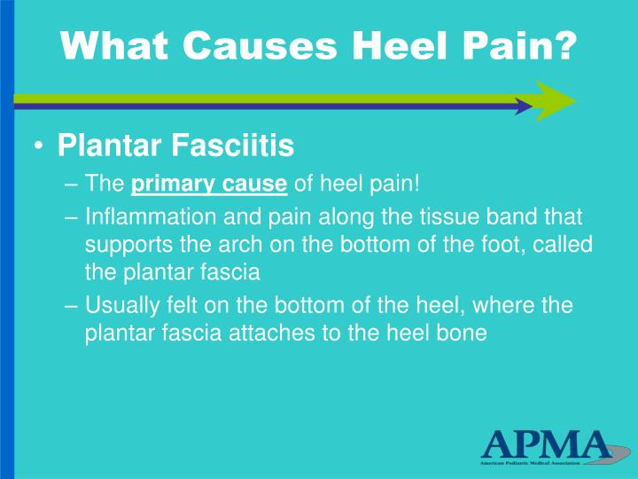 What causes heel pain