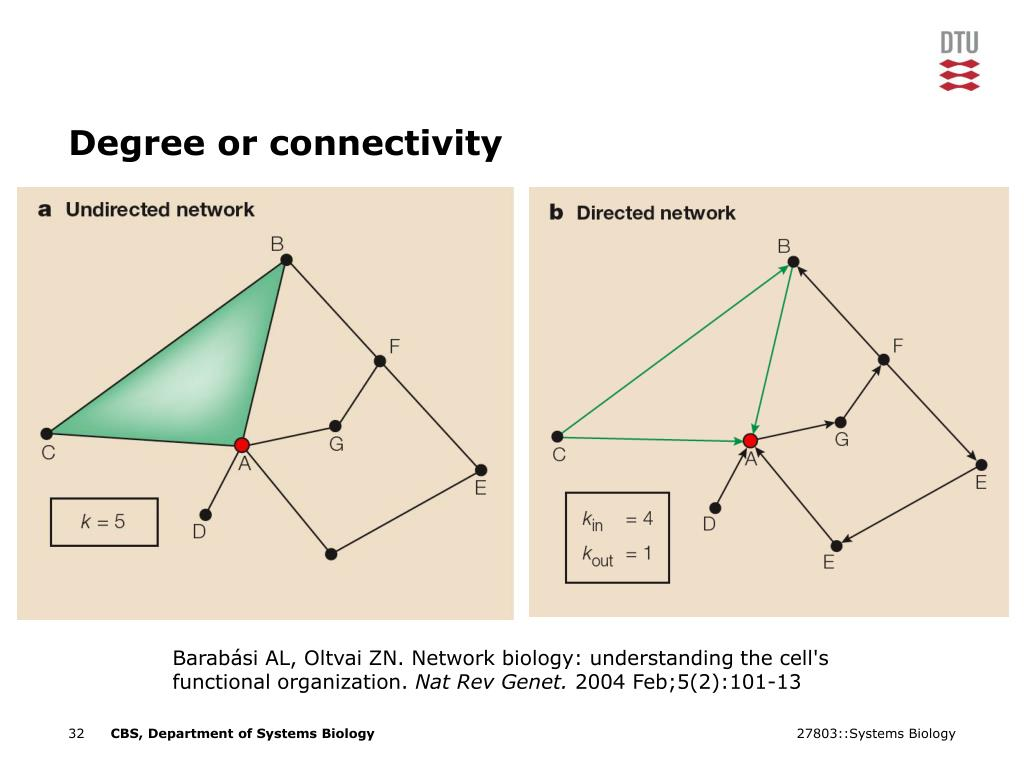Degree or connectivity