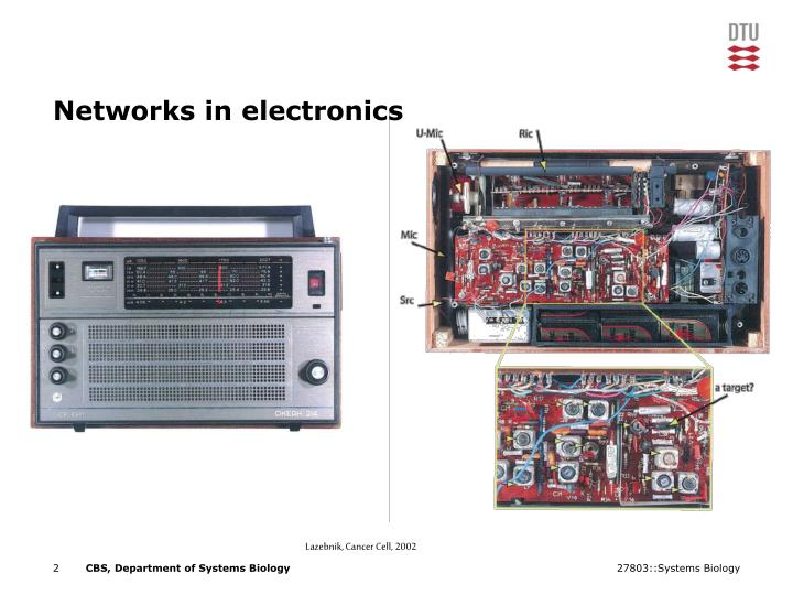 Networks in electronics