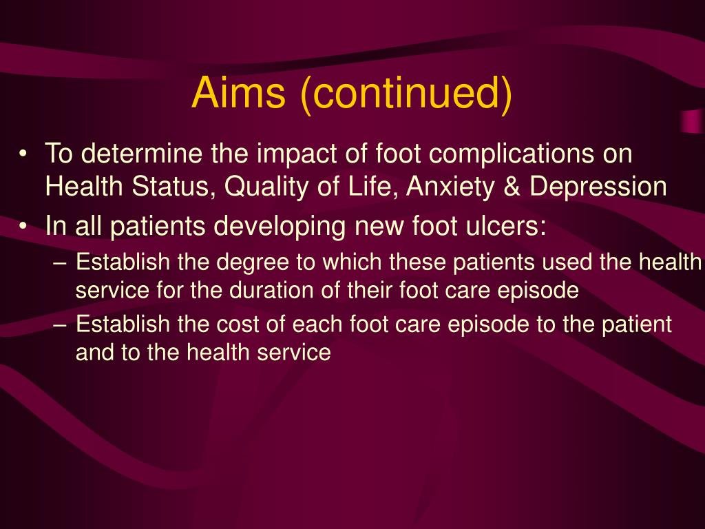 Aims (continued)