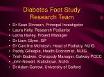 diabetes foot study research team