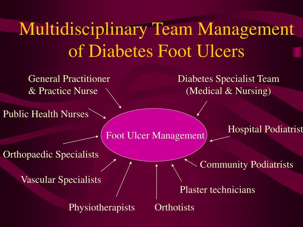 Multidisciplinary Team Management of Diabetes Foot Ulcers