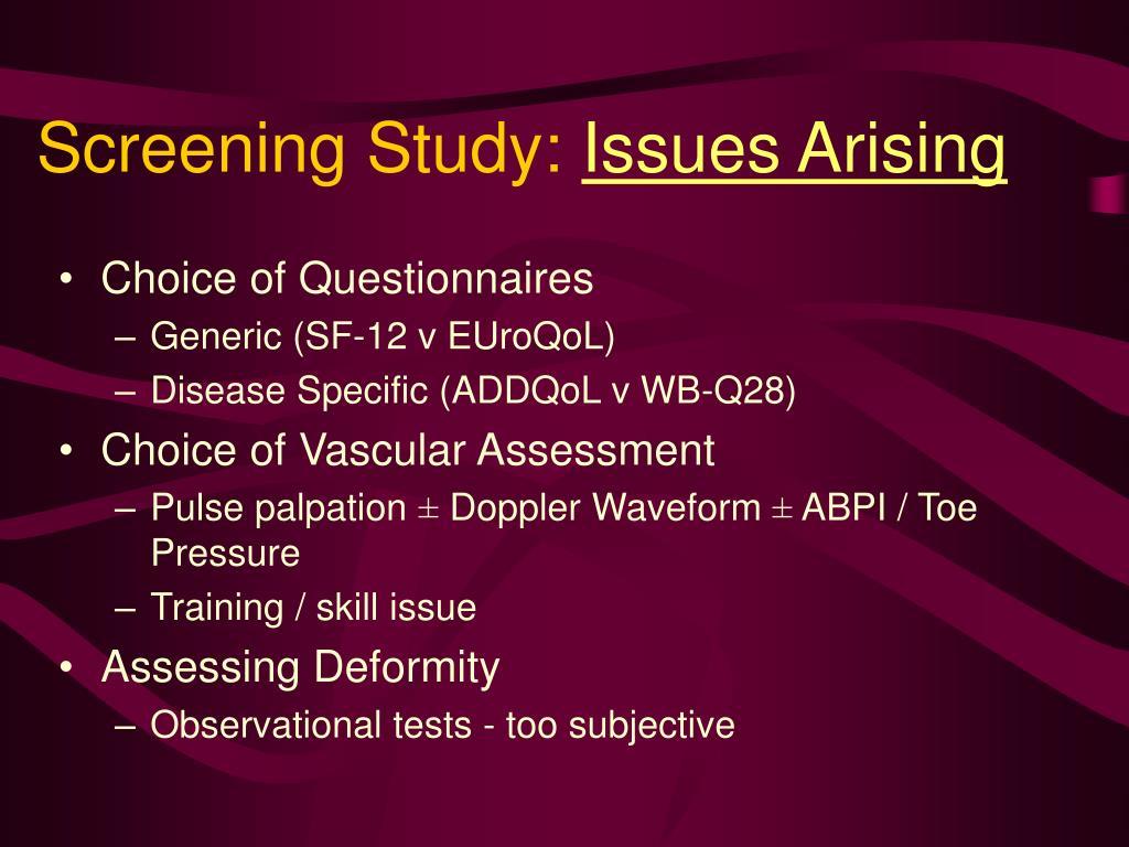 Screening Study: